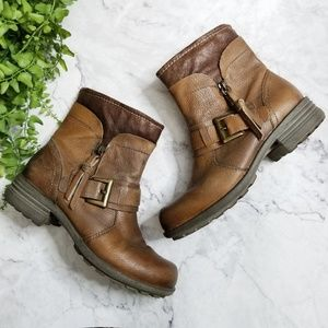 Earth Origins | Billie Brown Leather Moto Boots